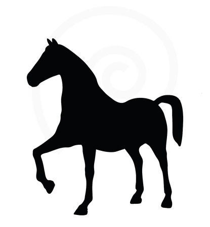gee gee: Vector Image - horse silhouette isolated on white background