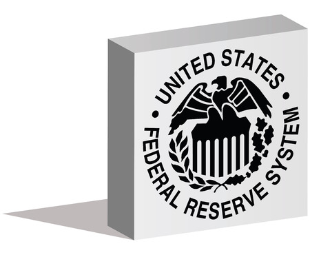 federal reserve: ISTANBUL, TURKEY - AUGUST 06, 2015: Federal Reserve System logotype in 3d form and placed on white background. The Federal Reserve System (also known as the Federal Reserve, and informally as the Fed) is the central banking system of the United States. Editorial