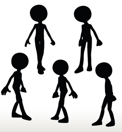 go forward: 3d man silhouette, isolated on white background, walking