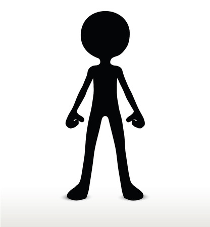 remain: 3d man silhouette, isolated on white background, standing