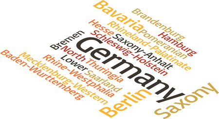 subdivisions: illustration in word clouds of principal subdivisions of Germany