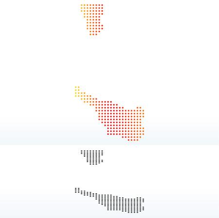land mark: Map of Bremen, Germany with Dot Pattern Illustration