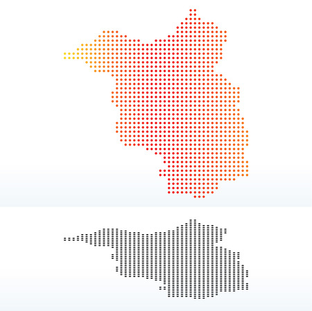 land mark: Map of Brandenburg, Germany with Dot Pattern