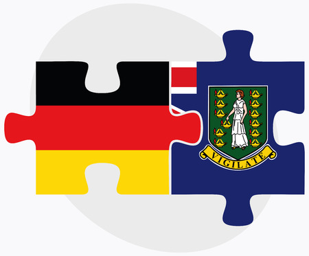 virgin islands: Germany and Virgin Islands (British) Flags in puzzle isolated on white background