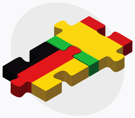 malibu: Germany and Mali Flags in puzzle isolated on white background Illustration