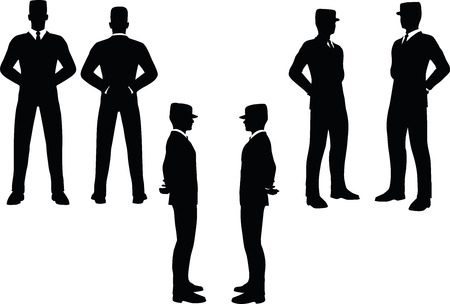 at ease: EPS 10 Vector illustration in silhouette of businessman at ease Illustration