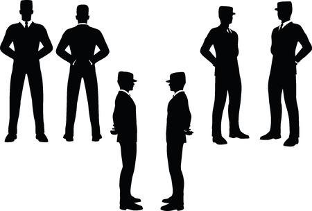 ease: EPS 10 Vector illustration in silhouette of businessman at ease Illustration