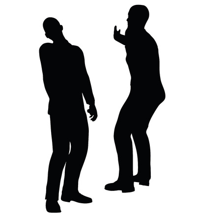 clout: EPS 10 Vector illustration in silhouette of businessman slap Illustration