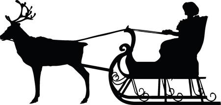 saint nick: EPS 10 Vector illustration in silhouette of santa
