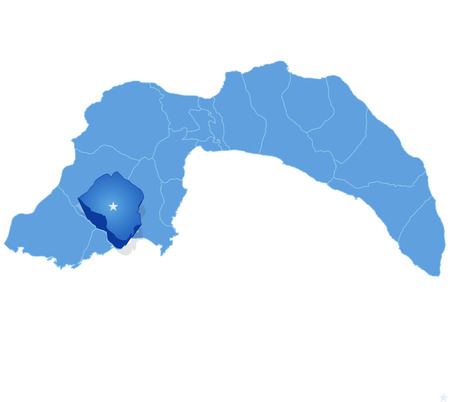 pulled out: Map of Antalya with each administrative district where Finike is pulled out
