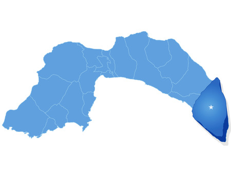 district': Map of Antalya with each administrative district where Gazipasa is pulled out