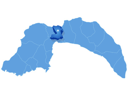 pulled out: Map of Antalya with each administrative district where Kepez is pulled out