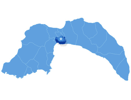 plat: Map of Antalya with each administrative district where Muratpasa is pulled out