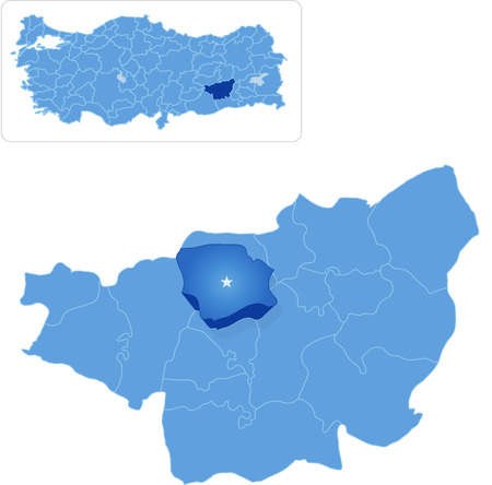 pulled out: Map of Diyarbakir with each administrative district where Egil is pulled out