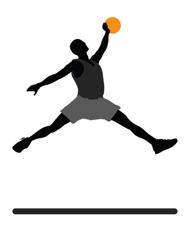 vector illustration of Basketball Player silhouette