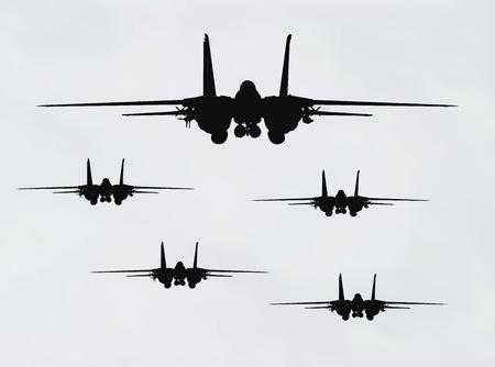 fighter plane: vector illustration of fighter plane on blue background