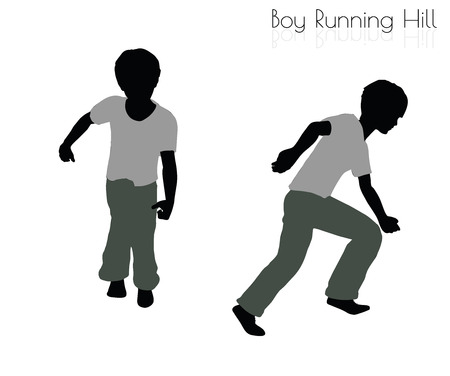locomotion: EPS 10 vector illustration of boy in Running pose on white background