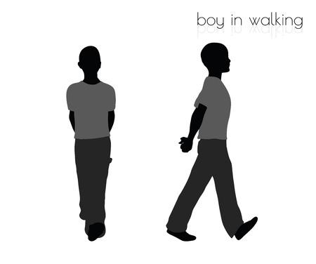 slog: EPS 10 vector illustration of boy in walking pose on white background