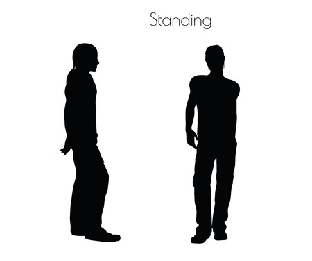 EPS 10 vector illustration of a man in Standing pose on white background