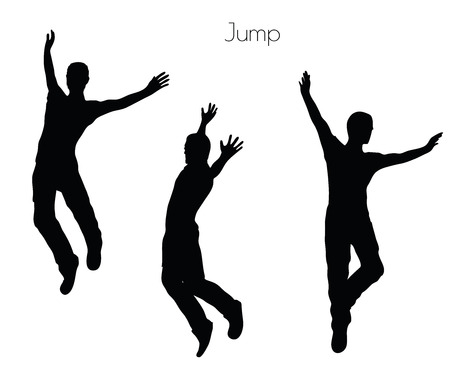 gambol: EPS 10 vector illustration of a man in Jump  pose on white background