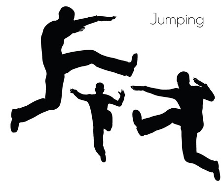 splashy: EPS 10 vector illustration of man in  Jumping  Action pose on white background