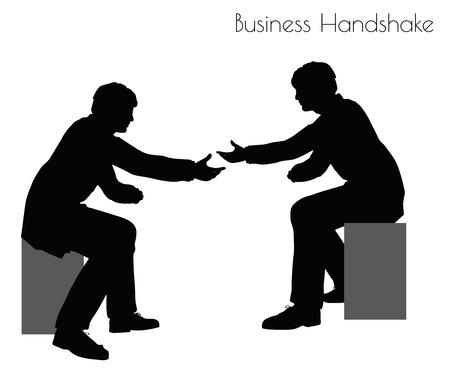 handgrip: EPS 10 vector illustration of man in  Business Handshake pose on white background