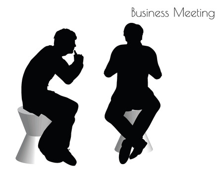 convergence: EPS 10 vector illustration of man in  Business Meeting pose on white background Illustration
