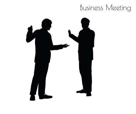 congregation: EPS 10 vector illustration of man in  Business Meeting pose on white background Illustration