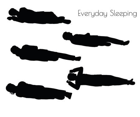 illustration of man in Everyday Sleeping pose on white background
