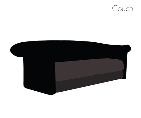 couch: illustration of couch on white background