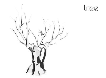distinct: EPS 10 vector illustration of tree, plant silhouette