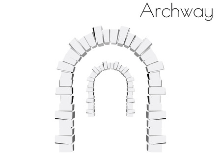 白い背景の上のアーチのシルエットの EPS 10 ベクトル イラスト