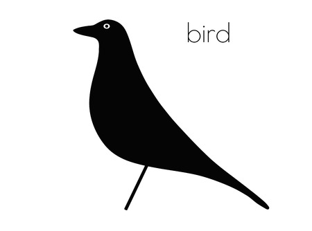 flocks: EPS 10 vector illustration of bird silhouette on white background