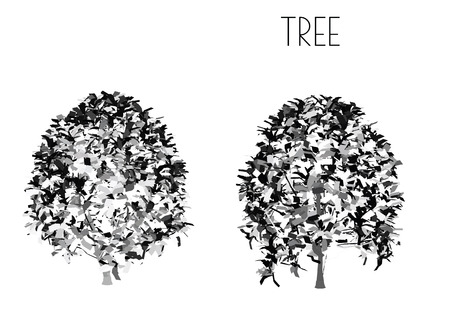 EPS 10 vector illustration of tree, plant silhouette