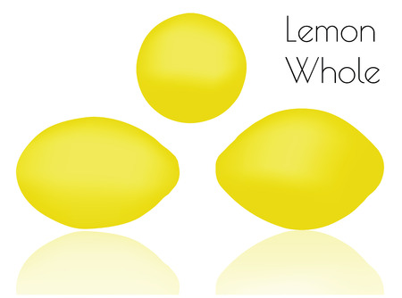 limon: EPS 10 vector illustration of Lemon Whole  on white background