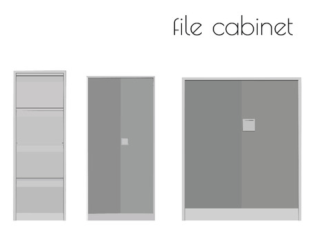 EPS 10 vector illustration of file cabinet silhouette on white background