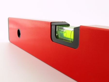 parallelism: Macro picture of a red level tube