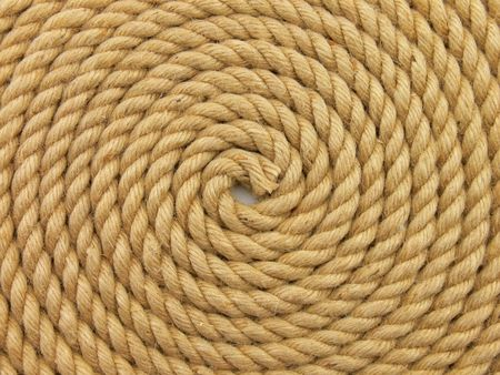 rolled up: Close up of a rolled up rope