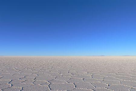 uyuni: Horizon of salt desert taked at Salar de Uyuni Bolivia