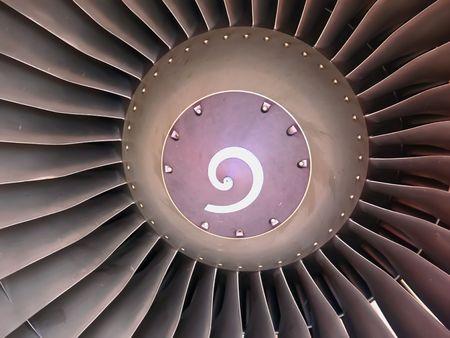 turbofan: Cierre de la imagen de un motor de turboh�lice