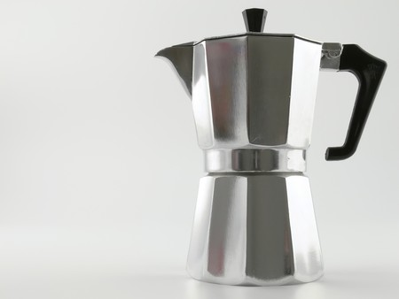 coffeemaker: Close up picture of a typical italian coffee-maker