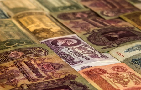 emerging economy: Collection of antique world money