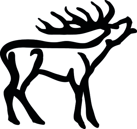 fallow deer: Deer Silhouettes Illustration
