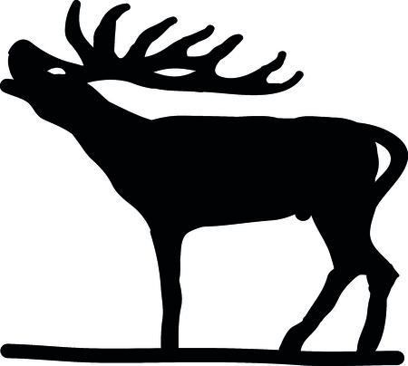 jachere: Cerfs Silhouettes