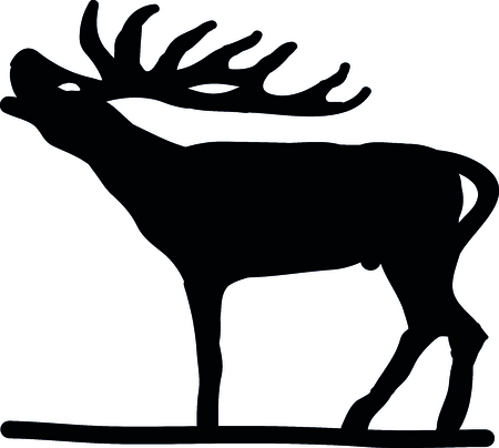 damhirsch: Deer Silhouetten Illustration
