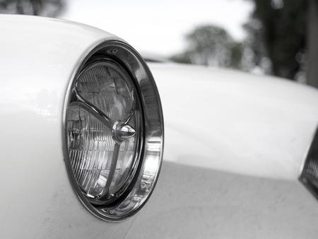 Closeup details photo of retro old Vintage car Zdjęcie Seryjne - 42312418