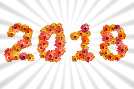 2018 Flower numbers Zdjęcie Seryjne