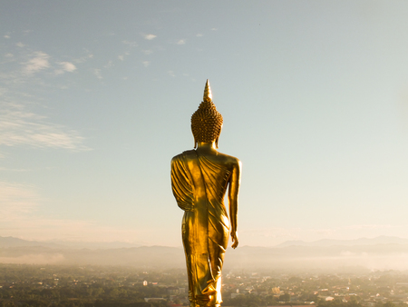 Big Gold buddha statue Background
