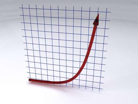 El crecimiento exponencial  Foto de archivo