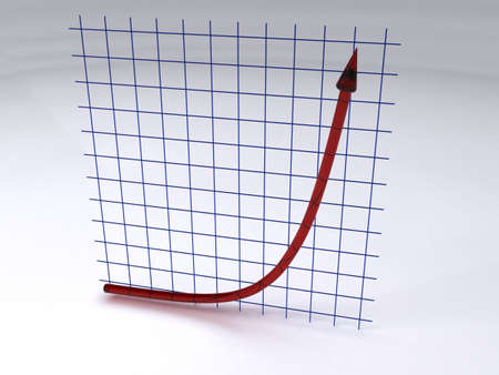 La croissance exponentielle de Banque d'images